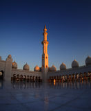 Grand Mosque Abu Dhabi dusk Royalty Free Stock Images
