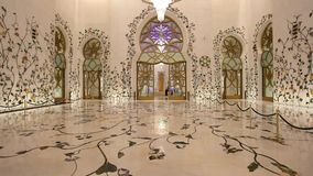 Grand Mosque in Abu Dhabi stock video footage