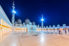 Grand Mosque in Abu Dhabi at night Stock Image