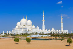 The Grand Mosque in Abu Dhabi from outside Stock Images