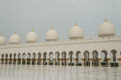 The grand mosque of Abu Dhabi Stock Image