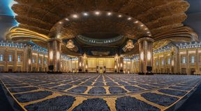 The granduity of the grand mosque royalty free stock image