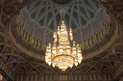 Grand Mosque chandelier Royalty Free Stock Image
