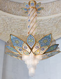 Grand Mosque - Chandelier royalty free stock photography