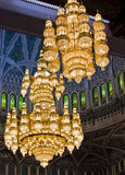 Grand Mosque Chandelier. Royalty Free Stock Images