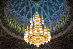 Grand Mosque Chandelier. Stock Image