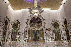 Grand Mosque Interior Royalty Free Stock Photo