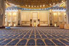 Grand Mosque in Kuwait City. Main prayer hall inside of the Grand Mosque in Kuwait City, Middle East Royalty Free Stock Images
