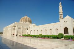 Grand Mosque Muscat. Sultan Qaboos Grand Mosque, Muscat Oman Royalty Free Stock Photo