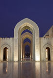 Grand Mosque in Muscat, Oman. Sultan Qaboos Grand Mosque at night. Muscat, Oman Royalty Free Stock Photo