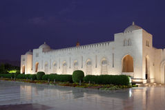 Grand Mosque in Muscat, Oman. Sultan Qaboos Grand Mosque at night. Muscat, Oman Stock Images