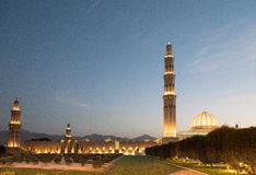 Grand mosque, Muscat. Sultan Qaboos Grand mosque at dusk, Muscat, Oman Stock Photography