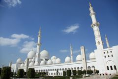 Grand Mosque National Landmark in Abu Dhabi Royalty Free Stock Image