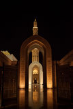 Grand mosque by night in Muscat, Oman Stock Photography