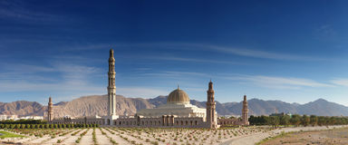 Grand Mosque Oman. Sultan Qaboos mosque in Muscat, Oman Royalty Free Stock Image