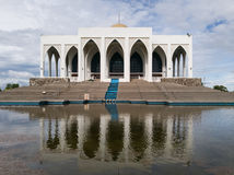 Grand Mosque in Songkhla province. Building Central Mosque and the reflection of buildings on the surface Stock Photo