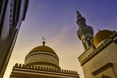 Grand Mosque Sunset Royalty Free Stock Photos