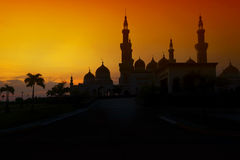Grand Mosque Sunset Royalty Free Stock Image