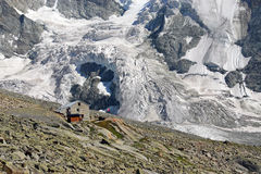 Grand Mountet Hut Stock Photography
