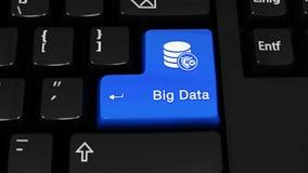 Grand mouvement de rotation de données sur le bouton de clavier d'ordinateur clips vidéos