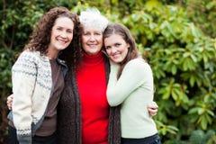 Grand-mère, descendant et petite-fille Photo libre de droits