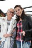 Grand-mère et petite-fille Images stock