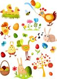 Grand neuf réglé de Pâques Images stock