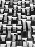 Grand nombre des fenêtres concrètes géométriques à l'envers Photographie stock libre de droits