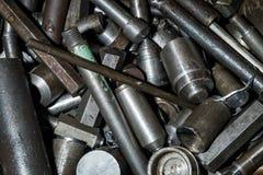 Grand nombre des pièces en métal Image stock