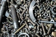 Grand nombre des pièces en métal Photos stock