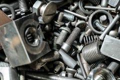 Grand nombre des pièces en métal Photos libres de droits