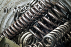 Grand nombre des pièces en métal Images stock