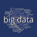Grand nuage Infographic de mot contenant des données Photo libre de droits