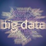 Grand nuage Infographic de mot contenant des données Images libres de droits