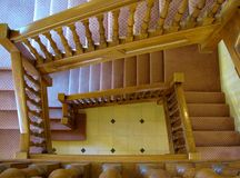 Grand Oak Staircase Royalty Free Stock Photo