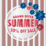 Grand offer summer sale  vector illustration eps10. Grand offer summer sale  Background big competition concept design figure final illustration isolated line Stock Images