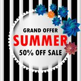 Grand offer summer sale  vector illustration eps10. Grand offer summer sale  Background big competition concept design figure final illustration isolated line Royalty Free Stock Photography