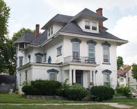 Grand Old House needing TLC. Abandoned, grand, old house in need of some tender loving care and attention stock photo