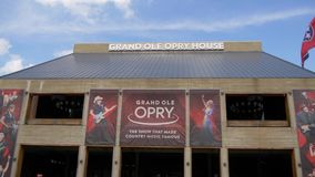 Grand Ole Opry in Nashville - Nashville, United States - June 16, 2019. Grand Ole Opry in Nashville - Nashville, Tennessee - June 16, 2019 stock video footage