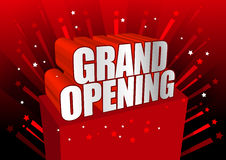 Grand opening. Red grand opening illustration. ai file available Stock Photo