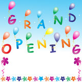 Grand opening. Illustration of grand opening invitation Royalty Free Stock Photos