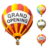 Grand opening. Vector hot air balloons with banners Royalty Free Stock Photography