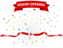 Grand opening background with confetti Royalty Free Stock Images