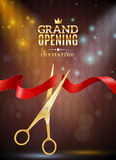 Grand Opening Background Illustration Royalty Free Stock Image