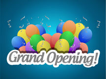 grand opening balloons card or sign royalty free illustration