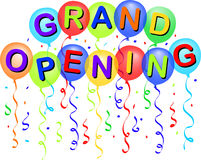 Grand Opening Balloons/eps Stock Images