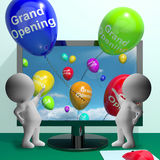 Grand Opening Balloons Showing New Online Store Royalty Free Stock Photography
