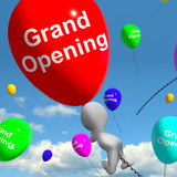 Grand Opening Balloons Shows New Store Launching Royalty Free Stock Image