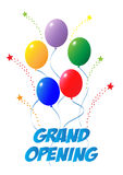 Grand Opening Balloons Stars Stock Photography