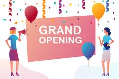Grand opening banner royalty free illustration